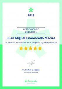 Certificado de calidad Doctoralia 2019